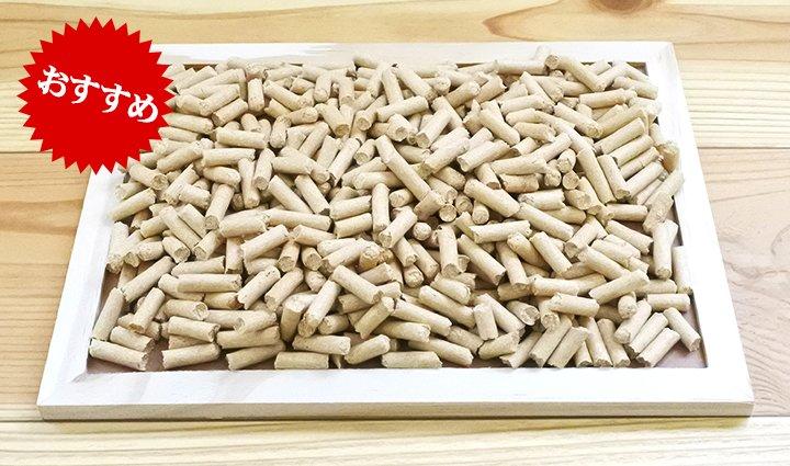 木製の猫砂