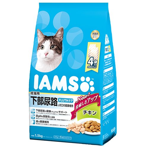1歳以上 成猫用 下部尿路とお口の健康維持 FLUTHケア チキン